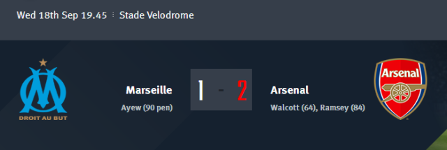 Marseille vs Arsenal