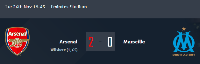 Arsenal vs Marseille