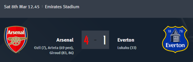 Arsenal vs Everton - FA Cup