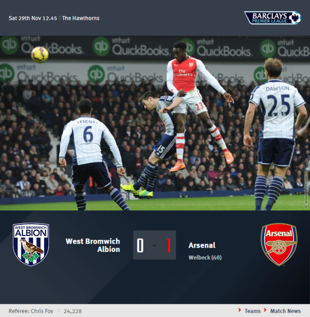 Premier League - West Bromwich Albion vs Arsenal