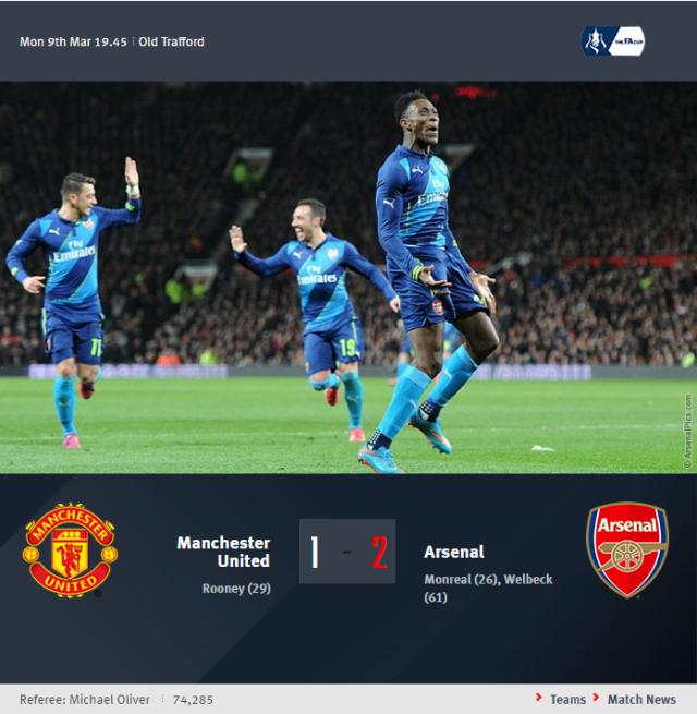 FA Cup - Manchester United vs Arsenal