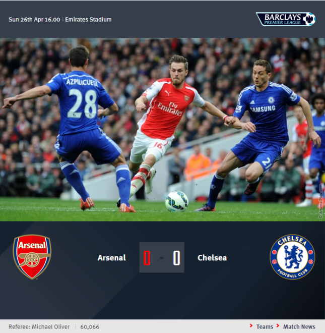 Premier League - Arsenal vs Chelsea