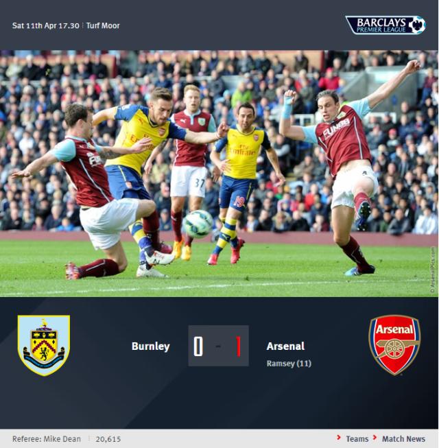 Premier League - Burnley vs Arsenal